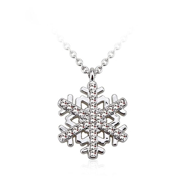 ZENA Snowflake Necklace Made with Crystals From Swarovski