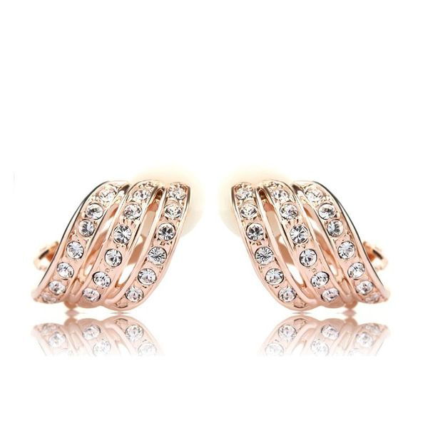Ouxi Clip On Earrings Made With Crystals From Swarovski For Non Pierced Ears