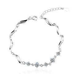 Zena 925 Silver Bracelet Made With Crystals From Swarovski