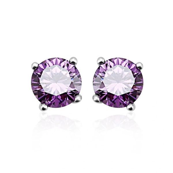 Zena 925 Sterling Silver Tanzanite Earrings Made With Crystals from Swarovski