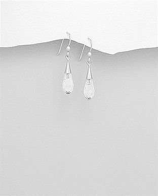 925 Sterling Silver Drop Earrings Made With Verifiable Authentic Swarovski Crystals