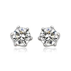 Zena 925 Sterling Silver Earrings Stud Made With Crystals From Swarovski