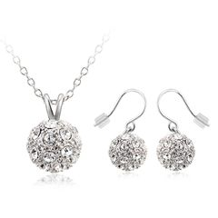 Ouxi Earrings & Chain Set Made With Crystals From Swarovski