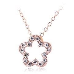 Ouxi Flower Design Pendant Made With Crystals From Swarovski