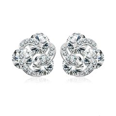 Zena 925 Sterling Silver Twirl Stud Earrings Made With Crystals from Swarovski