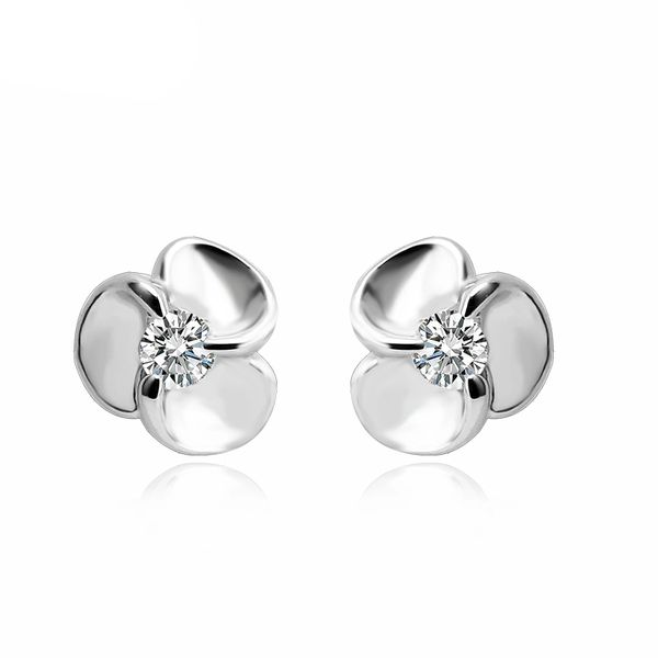 Zena 925 Sterling Silver Clover Earrings Made With Crystals From Swarovski