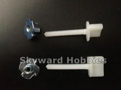 Nylon Wing Bolt with Blind Nut Set of 2 M4 x 30mm