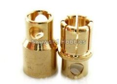 Gold Coated Banana Connector 8mm Bullet Style - 4 pairs