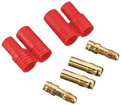 Gold Coated M&F Banana Connector w/ Housing 4mm
