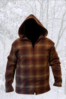 Jacket Shadow Plaid Brown