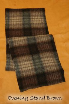 Wool Scarf Evening Stand Brown