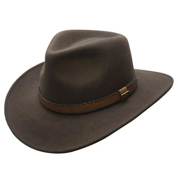 Outback Creek Crushable Wool Hat Brown