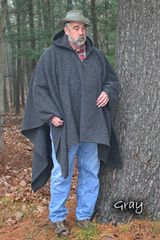 Poncho Gray Tall (Blanket Weight)