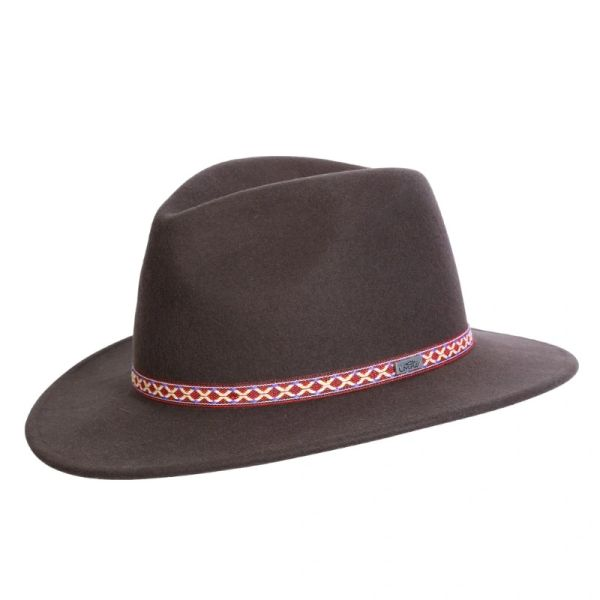 Short Brim Plum Creek Crushable Wool Brown
