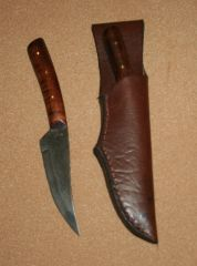 Medium Frontier Skinner w/Leather Belt Sheath