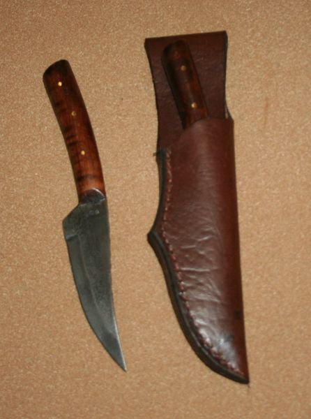 Medium Frontier Skinner w/Leather Belt Sheath