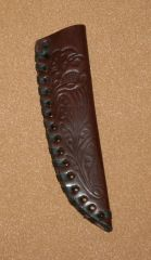 Sheath Medium Leather Stamped 03