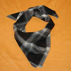 Bandana Red/Black Plaid