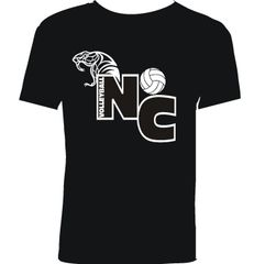 Black North Canyon Volleyball T-shirt