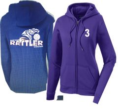 Volleyball Sport-Wick Fleece Full Zip Up Hoodie