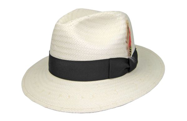 Miami Lite Straw Fedora Hat in Natural Cream #NHT50-71