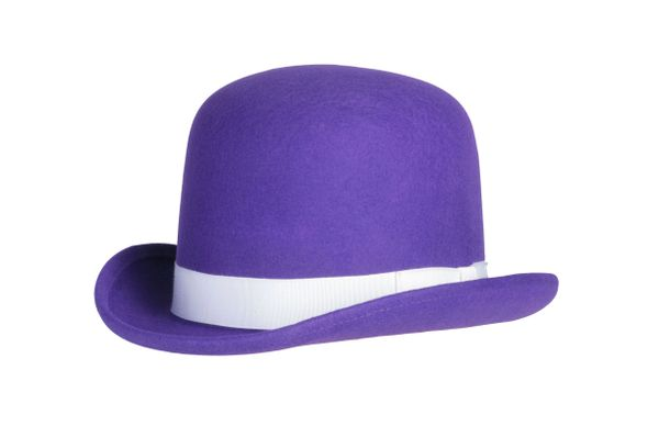 Tall Derby Bowler Hat in Purple #NHT09-05
