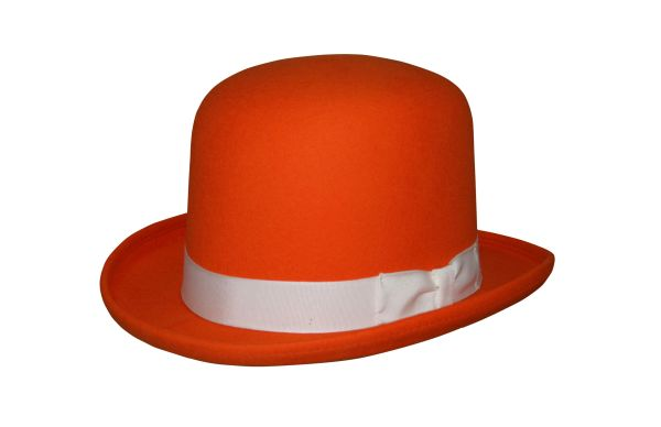 Tall Derby Bowler Hat in Orange #NHT09-16