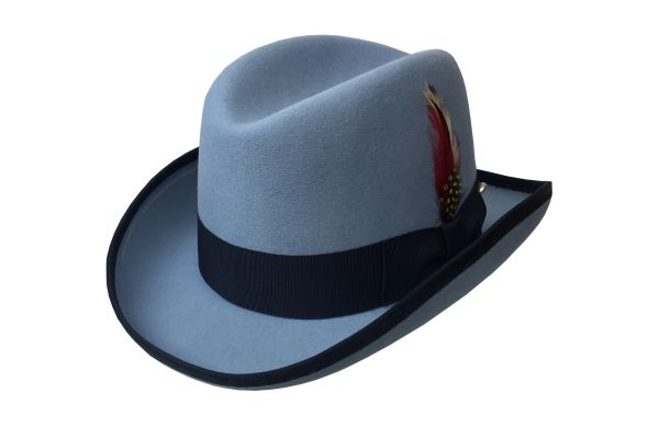 Deluxe Homburg in Sky Blue w/ Navy Band #NHT25-39N