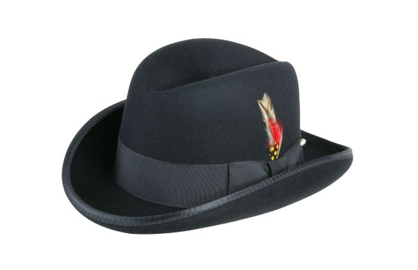 Deluxe Godfather Homburg in Black #NHT25-01