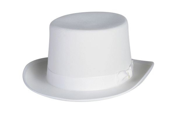 Classic Top Hat In White #NHT01-70