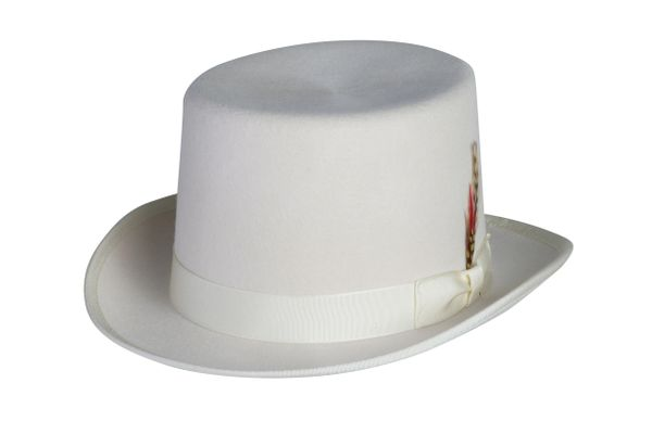 Deluxe Morfelt Top Hat in Ivory #NHT30-71
