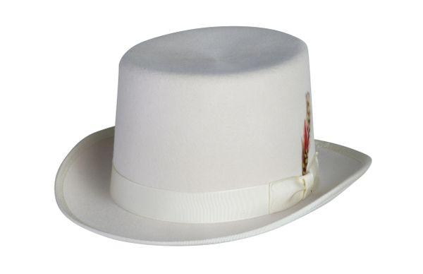 Deluxe Morfelt Top Hat in Ivory #NHT30-71