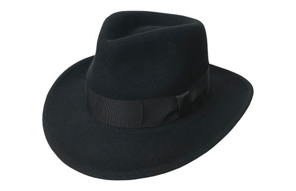 Deluxe Harrison Raider Fedora Hat in Black #NHT38-01