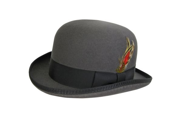 Deluxe Morfelt Derby Hat in Steel Grey with Black Band #NHT31-02B