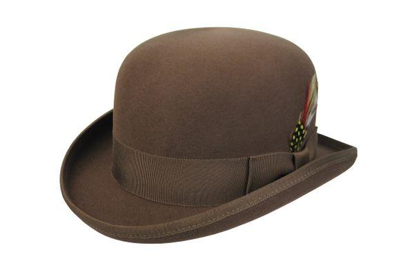 Deluxe Morfelt Derby Hat in Pecan #NHT31-15N