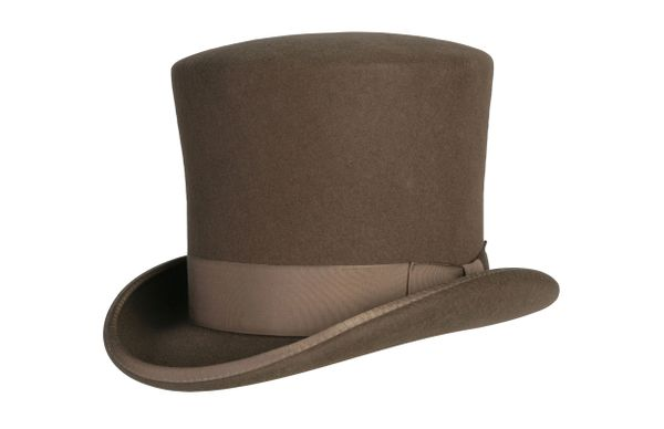 Victorian Caroler Tall Top Hat in Pecan #NHT18-15