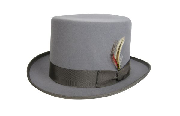 Deluxe Morfelt Top Hat in Heather Grey #NHT30-03