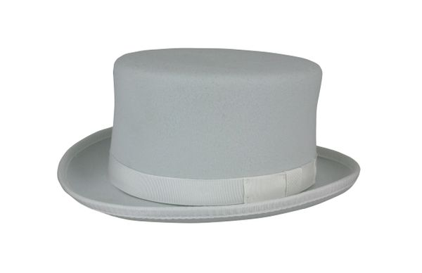 Stubby Coachman Top Hat in White #NHT41-70