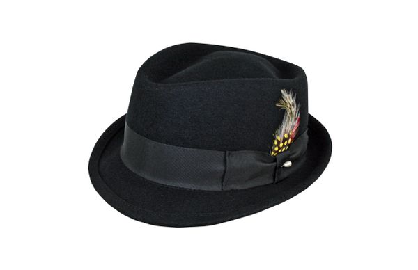 Dylan Stingy Brim Fedora Hat in Black #NHT102-01