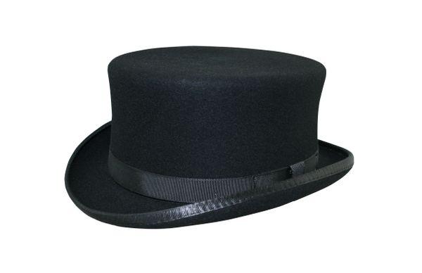 Stubby Coachman Top Hat in Black #NHT41-01