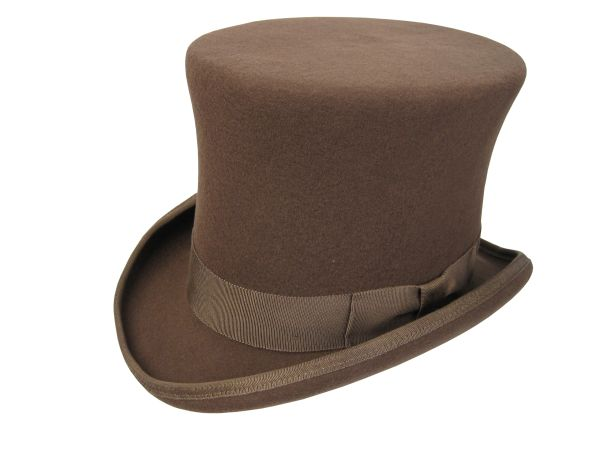 Victorian Squire Tall Top Hat in Pecan #NHT24-15N