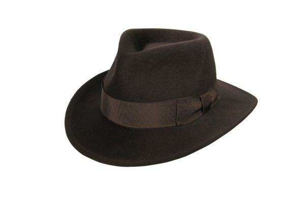 Deluxe Harrison Raider Fedora Hat in Fall Brown #NHT38-99