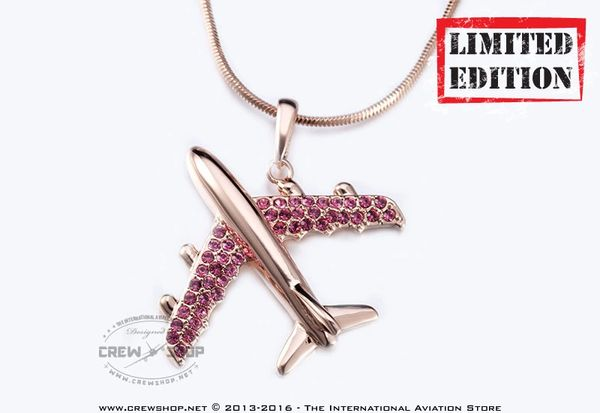 fd0389161bb7 Airplane Necklace Pendant Made with SWAROVSKI® elements crystals ...