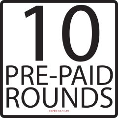 PRE-PAID 10 Rounds w/Cart Exp. 10/31/19
