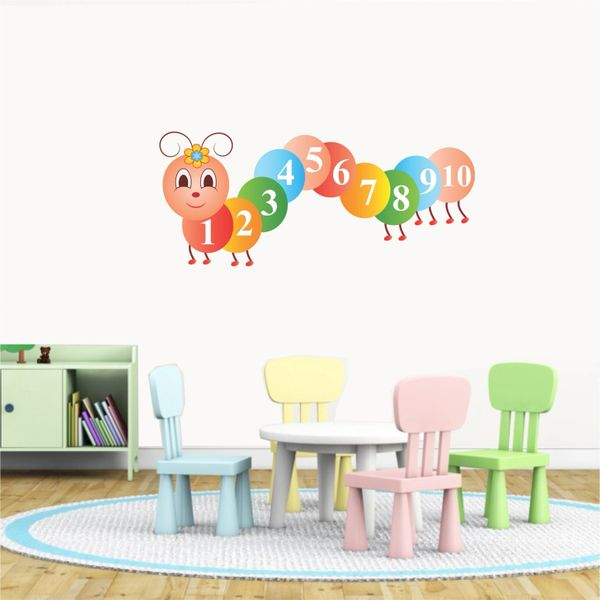 cute counting caterpillar wall stickers wall decals | online
