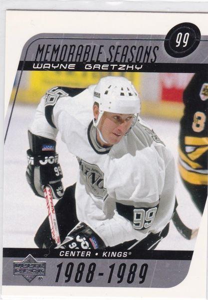 Wayne Gretzky 2002-03 Upper Deck Hockey Memorable Seasons card # 189