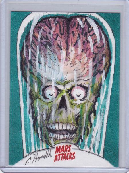 Mars Attacks Invasion Patrick Hamill Color Artist Sketch card 1/1