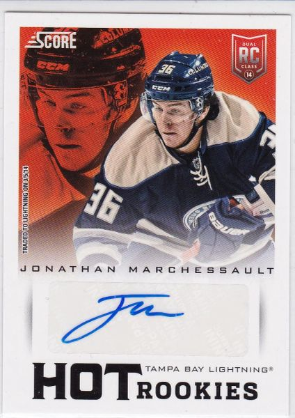 Jonathan Marchessault 2013-14 Score Hockey Hot Rookies Autograph Rookie card #746