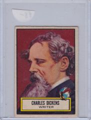 1952 Topps Look 'n See card #125 Charles Dickens