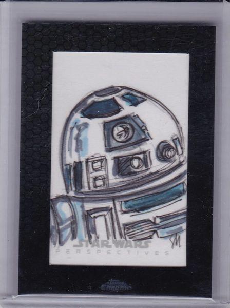 Star Wars Chrome Perspectives Sian Mandrake Sketch card R2-D2